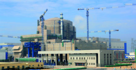 The first Hualong One reactor is undergoing commissioning in China (Credit: FQNPC)