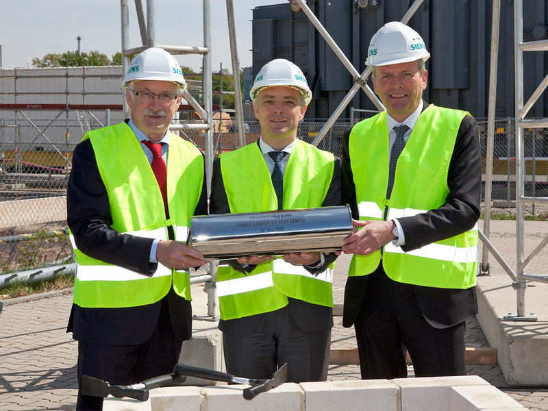 Siemens starts construction of new power converter test centre in Germany