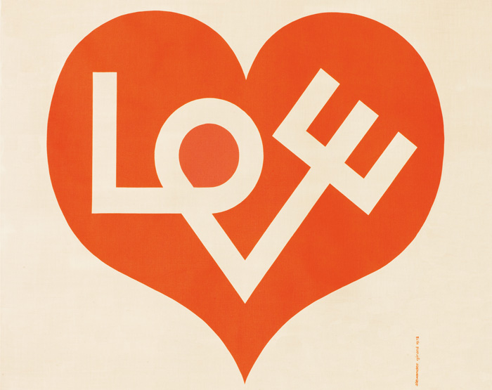 Love Heart, his most famous motif, also for Herman Miller's Environmental Enrichment Panels, 1971. Photo: Vitra Design Museum, Alexander Girard Estate