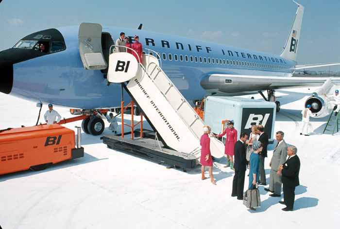 Girard's concept for Braniff Airways, 1965. Photo: Alexander Girard Estate, Vitra Design Museum