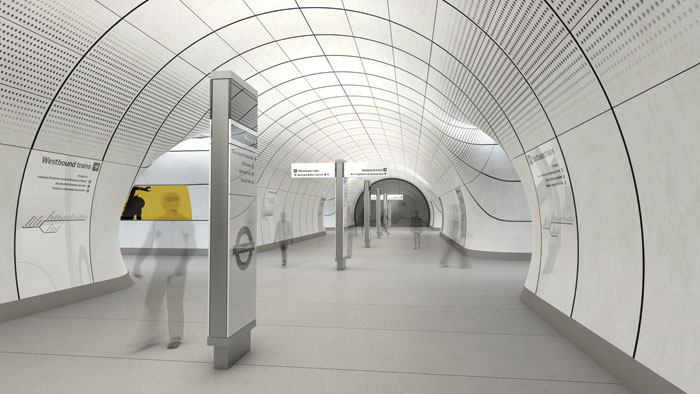 Visual of Grimshaw's work on Crossrail. Image Coutesy: Crossrail