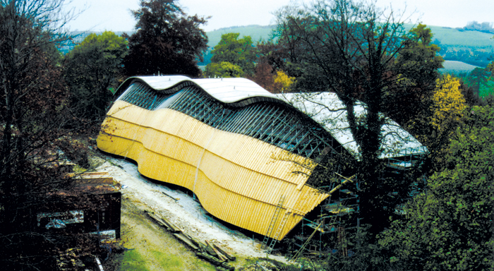 Cullinan Studio's Weald and Downland Gridshell structure, a pioneering kind of building arrived at via experimentation