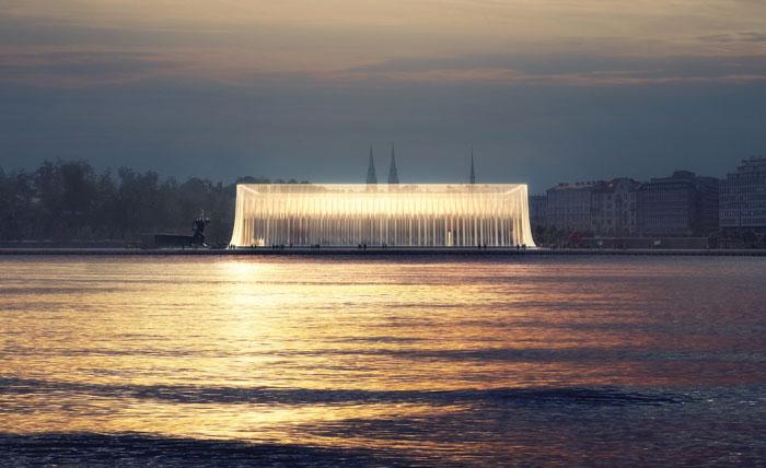 Shortlisted design for the Helsinki Guggenheim. Courtesy Asif Khan