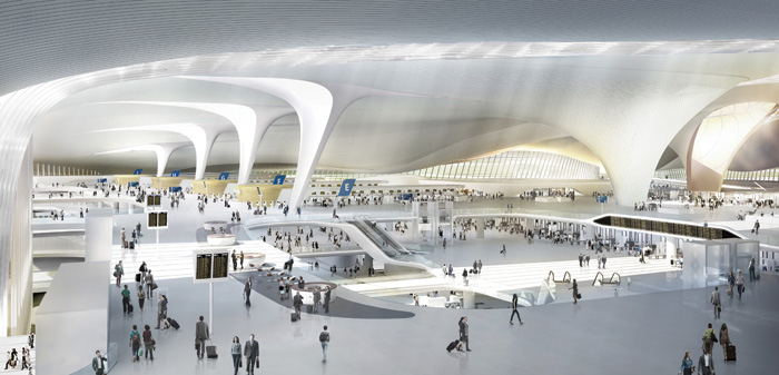 CGI of the interior of Beijing Airport