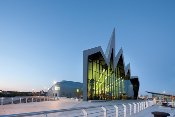 Details and view of the Riverside Museum, Glasgow