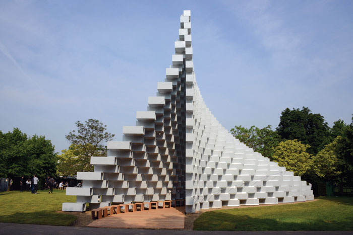 The cathedral-like structure comprises 1,800 fibreglass bricks