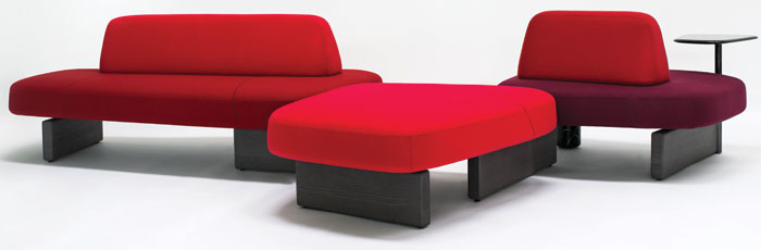 PearsonLloyd's Ischia seating collection for Tacchini