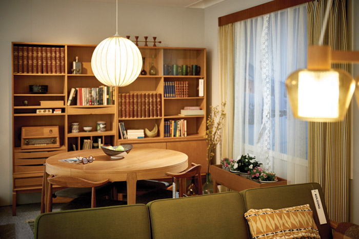 KOLDING sofa, the MTP storage system and DANSKE dining chair in laquered oak were some of the matching furniture available in the IKEA range in the Sixties
