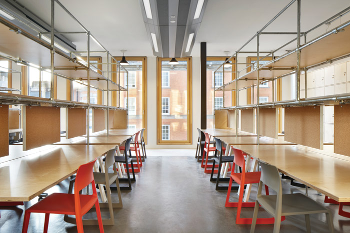 Previously cramped and oversubscribed, spacious new studios offer one desk per student