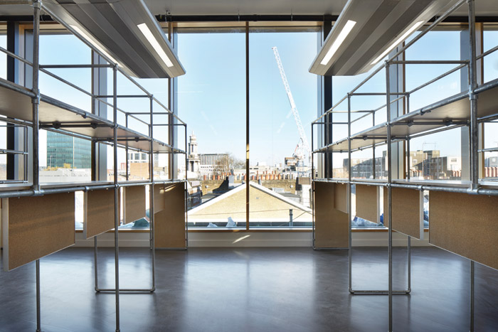 Top-floor studios provide breathtaking views of the rooftops of Bloomsbury