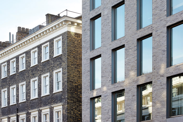 Once an eyesore in the Bloomsbury Conservation Area, now the building fits comfortably into its historic setting