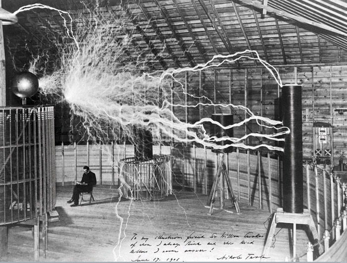 Image Credit: Nikola Tesla, 1901. Courtesy Wellcome Library, London