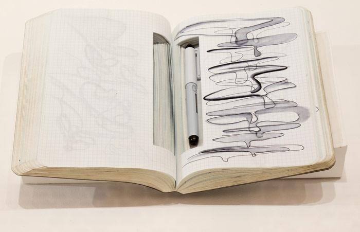 A personal sketchbook. Image Credit:  Luke Hayes