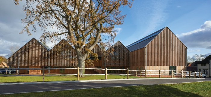 Art Barns - Feilden Clegg Bradley Studio's Bedales Arts & Design Building. Image Credit: Hufton + Crow