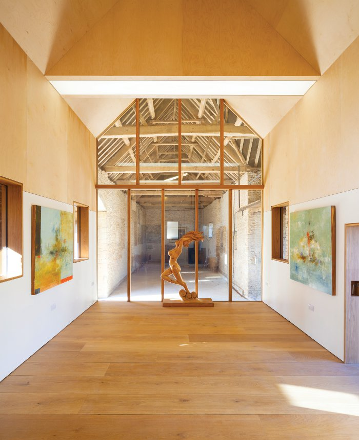 Stonewood Design's Pod Gallery conversion. Image Credit: Craig Auckland