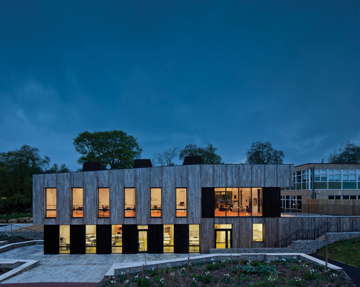 Feilden Clegg Bradley Studio's Ralph Allen School Environmental Building in Bath (2014)