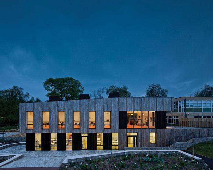 Feilden Clegg Bradley Studio's Ralph Allen School Environmental Building in Bath (2014)