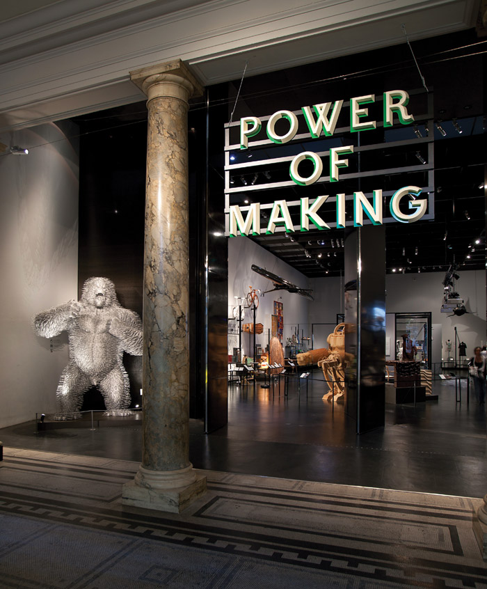 The Power of Making was a joint V&A and Crafts Council exhibition in 2011. It was curated by Daniel Charny to demonstrate the power of shared problem-solving and creativity. Image Credit: Peter Kelleher, V&A