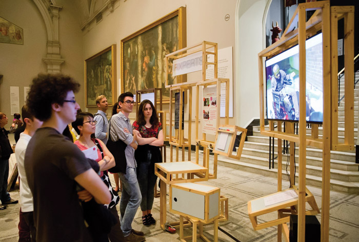A V&A Friday Late event Art is Good For You featured a Fixperts installation showing prototypes being co-designed and developed, June 2015. Image Credit: V&A