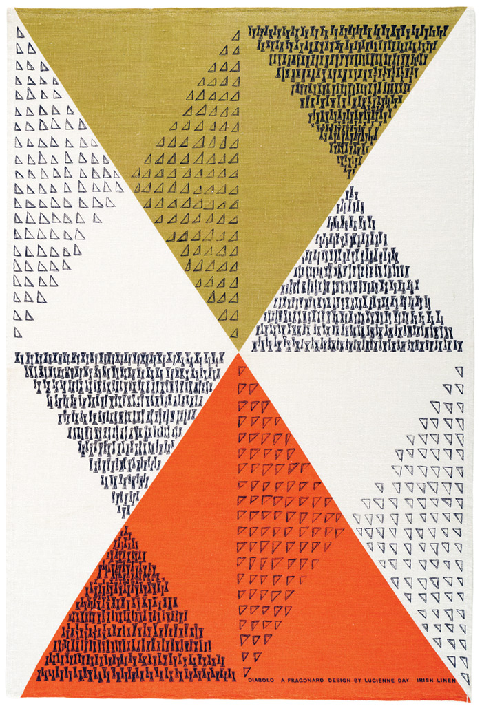 Diabolo tea towel for Thomas Somerset, 1962-63. Image Credit: Robin and Lucienne day Foundation. Collection of Jill A. Wiltse and H. Kirk Brown III, Denver