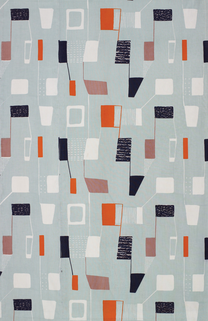 Lapis furnishing fabric for Heal's Wholesale & Export, 1953. Image Credit: Robin & Lucienne Day Foundation