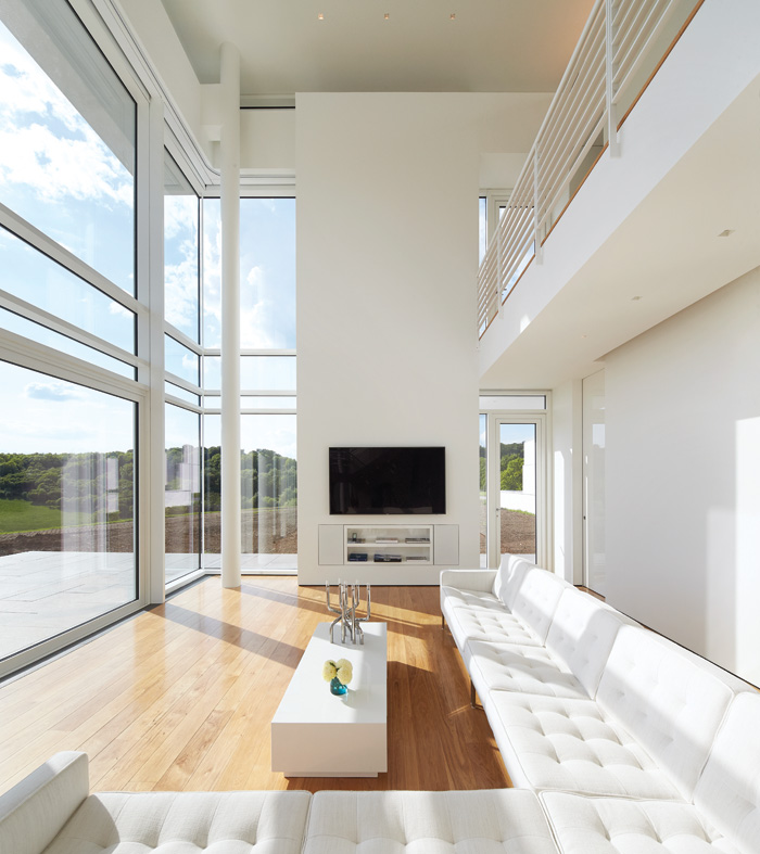 A double-height living space is the highlight of the house