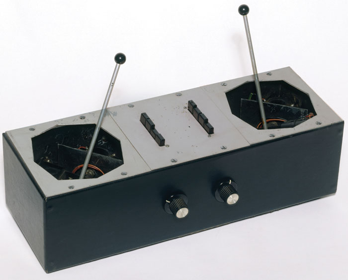 The Azimuth Coordinator — as advertised on the Royal Festival Hall poster — was a device that allowed the sound to be panned around up to six speakers surrounding the audience. Image Credit: Pink Floyd Music