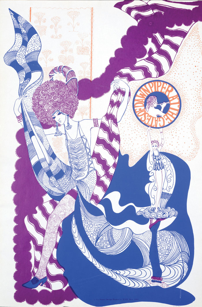 Showing a West Coast psychedelic graphic influence — the 1967 poster promoting Pink Floyd's Piper at the Gates of Dawn album. Image Credit: Stufish