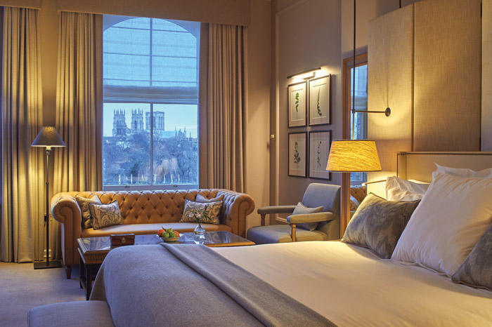 This Junior Suite has views to the York Minster
