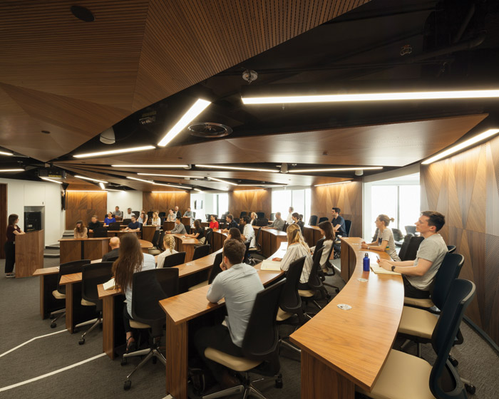 One of the two 'Harvard-style', semi-circular lecture theatres