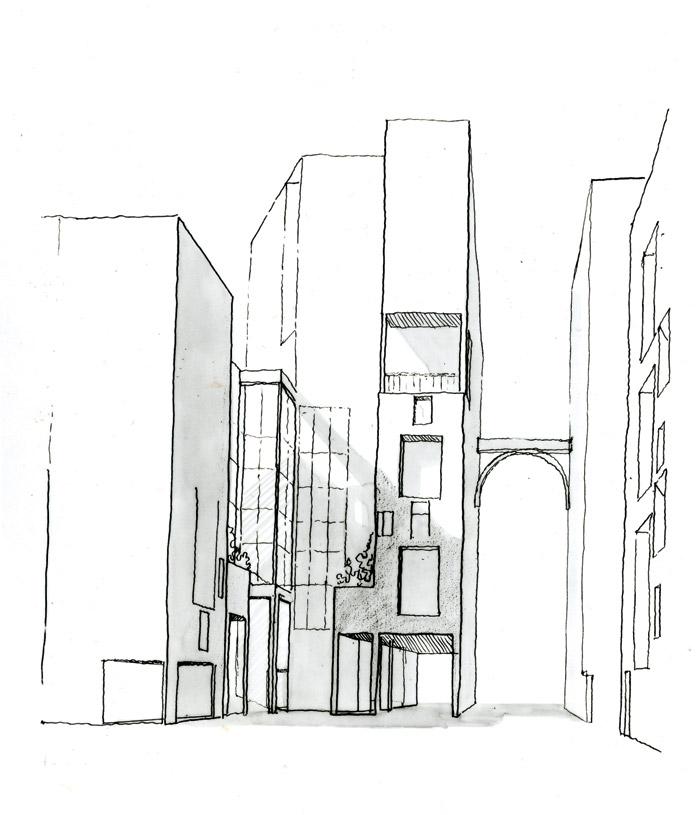 Sketch of Les Hautes Formes