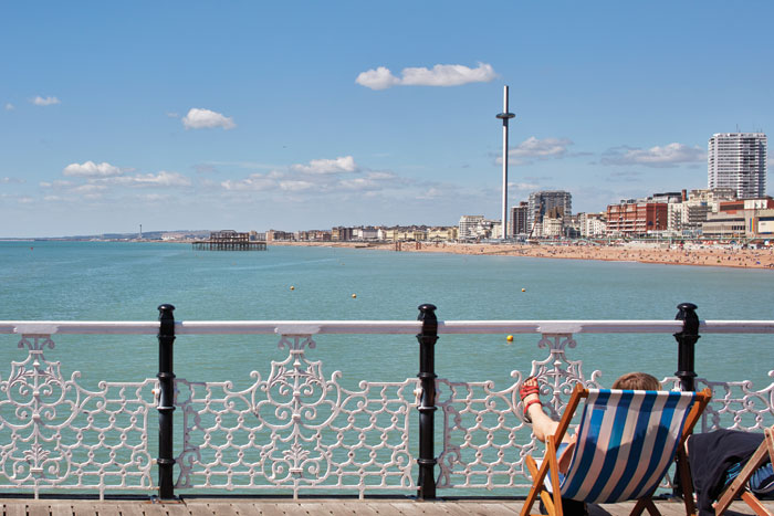 The i360 is a new icon for Brighton, replacing the West Pier which is unlikely now to ever make a phoenix-like rise