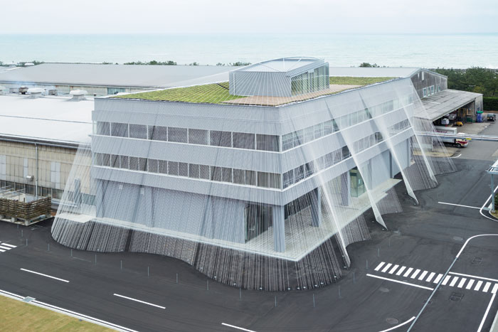 Komatsu Seiren Fabric Laboratory, Ishikawa Prefecture, Japan, 2015. This former office building was turned into a museum and used carbon-fibre rods to protect it from earthquakes Photo: Takumi Ota