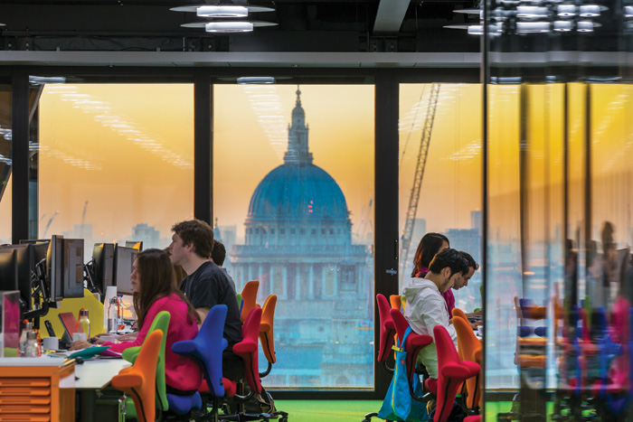 Room with a view - of St Paul's. Photo: Paul Raftery
