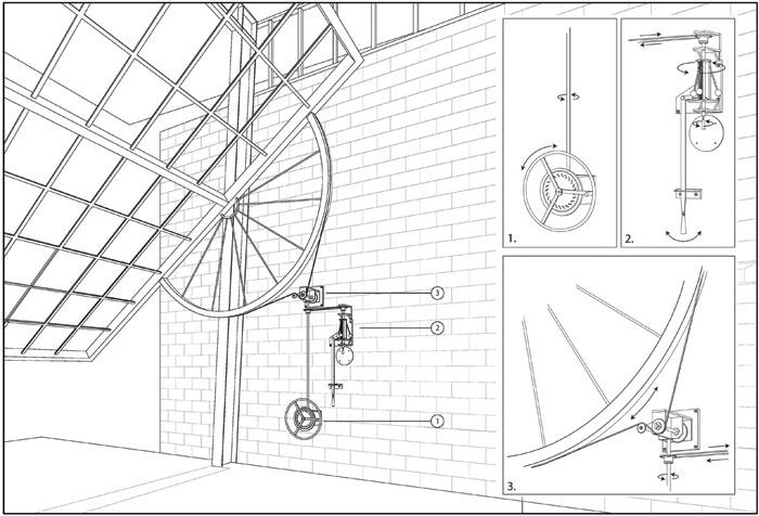 The Heath Robinsonesque door mechanism of Kundig's Chicken point cabin. Photo: Courtesy Olson Kundig