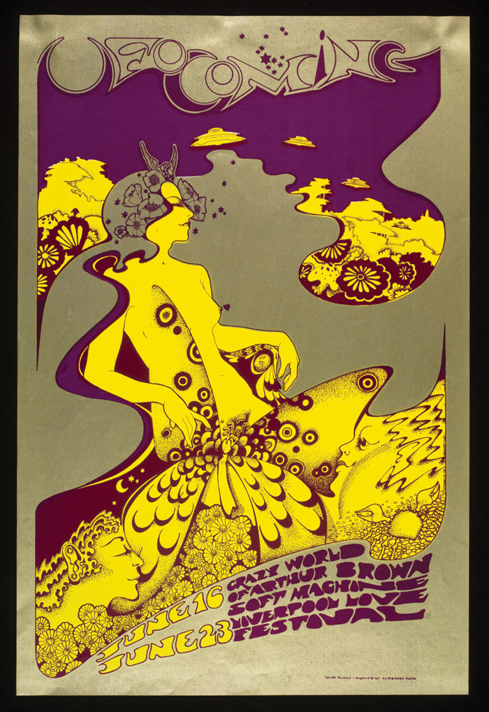 Poster for The Crazy World of Arthur Brown at UFO club by Hapshash and the Coloured Coat, 1967