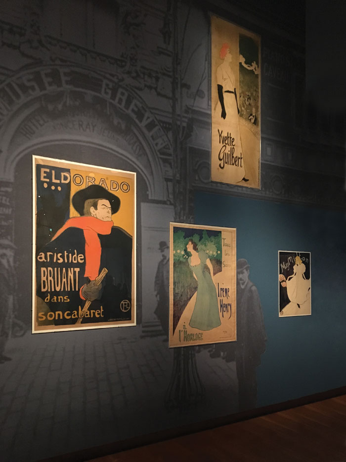 Art posters on show at the Prints in Paris exhibition, Amsterdam until 11 June