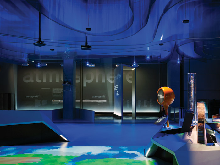 The Atmosphere Gallery at the Science Museum, where lighting has become one of the players in an immersive, theatrical environment.