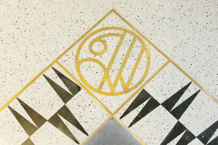 Shed's flooring for William & Son incorporated the company's logo and aspects of its business