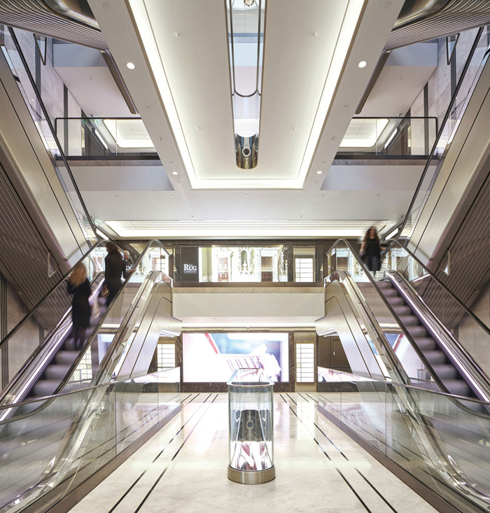 A total of 16 new escalators have been installed. Image Credit: Make Architects