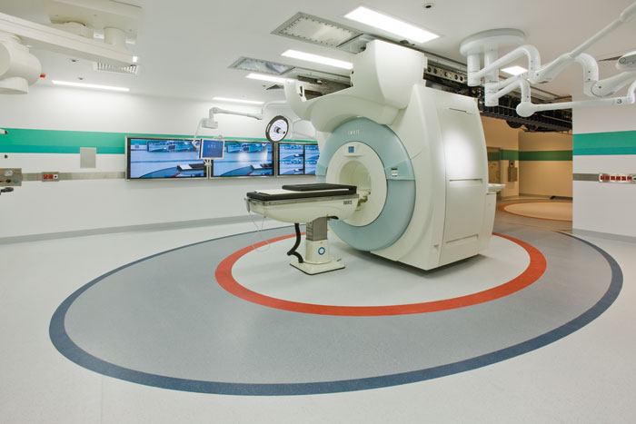 Brain surgery demands ultra-clean facilities, so Gerflor's Tarasafe Ultra vinyl flooring was ideal for the new neurosurgery suite at the Canberra Hospital. Tarasafe has a surface treatment for extreme resistance to soiling and staining and has a antibacterial and fungicidal treatment. In addition, it comes with a 12-year warranty and is 100 per cent recyclable.