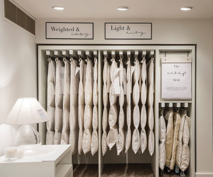 Domestic-style settings and fittings in Household's design for The White Company make it easy to visualise the products at home
