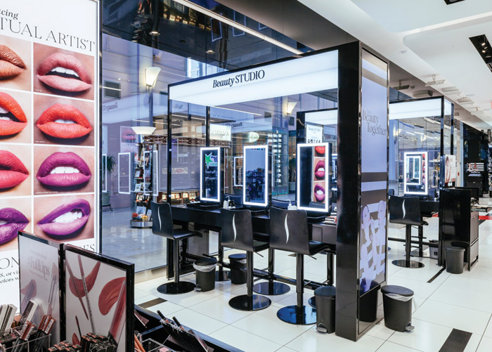 Sephora uses technology in store to educate customers about how to use its products, including screens where cosmetics can be virtually applied to a customer's image. In general, Millennials are excited by new applications of technology and are comfortable with the blurring of the digital and the physical. The store concepts are designed in-house