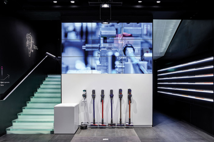 Dyson's new Oxford Street store gives customers a chance to get hands on with its vacuum cleaners and find out how they cope with different types of dirt