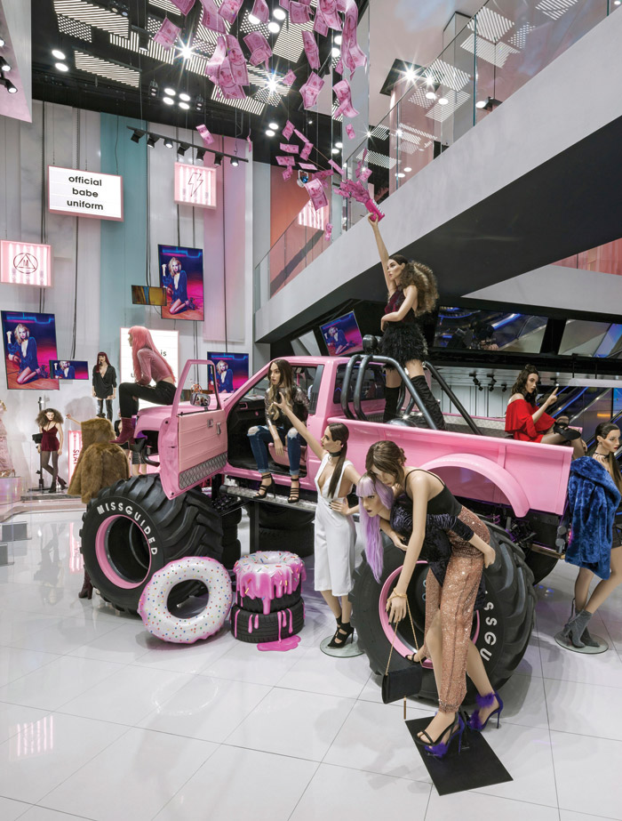 Generation Z customers want to visit real-life stores, so successful online brand Missguided has launched its first physical store at Westfield. Designed by Dalziel & Pow, the store is geared towards enabling fashion-mad girls to be creative on social media, with constantly changing displays to maintain interest