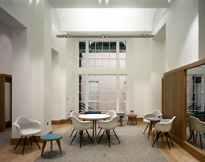 Basement space at the RAE off of Pall Mall has been transformed by Wright & Wright into its Enterprise Hub