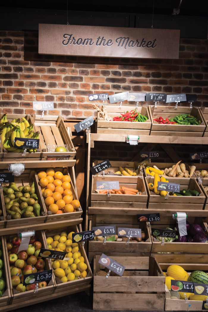 Today's convenience-store shoppers want healthier, fresh products. So everything about SimplyFresh, from the finishes to the lighting, is designed to make fresh items look good