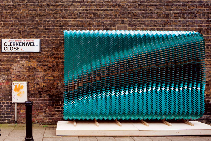 Vying for a Surface Design Show award is Billboards, by Giles Miller Studio, shortlisted in the Temporary Exterior Surfaces category.