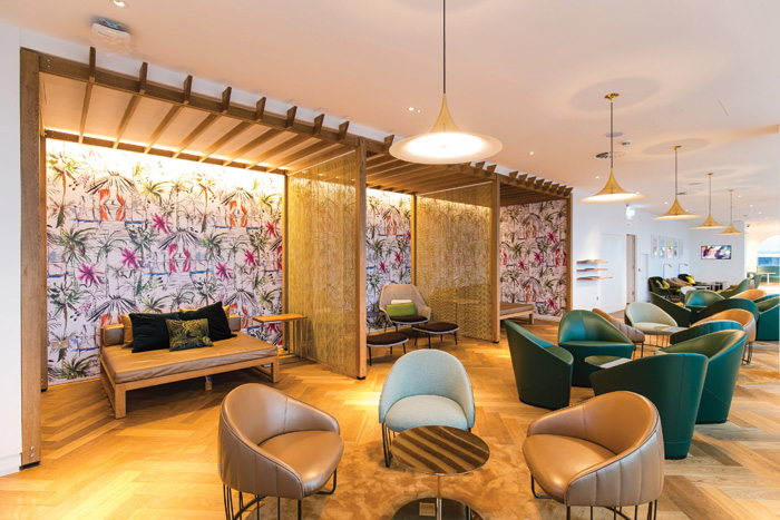 A vibrant Caribbean design influence is apparent in the Palm Terrace