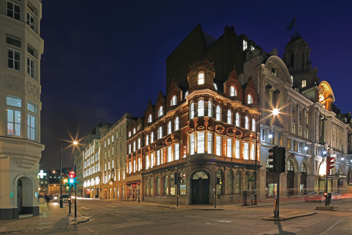 The four internally connected buildings on Wimpole Street date between 1893 and 1930